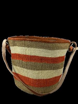 Orange, White and Dark Beige Basket
