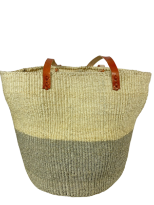 Two Tone Light Grey with White Basket