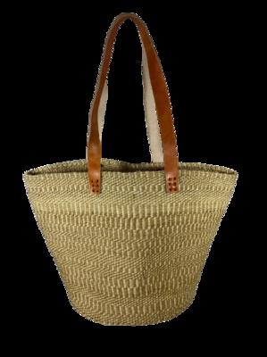 Subtle Beige Stripes Basket