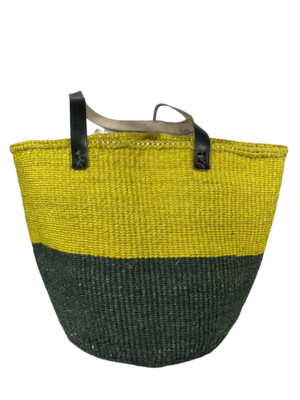 Two Tone Yellow With Dark Grey Basket