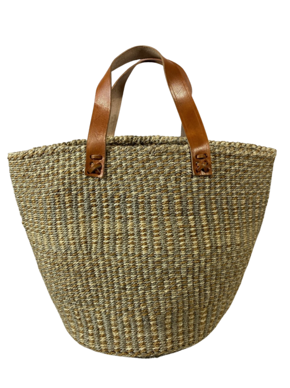 Beige and Grey Tote  Basket