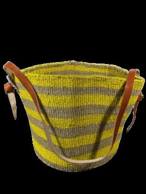 Yellow and Dark Beige Basket