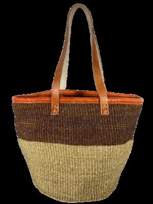 Two Tone Beige Basket