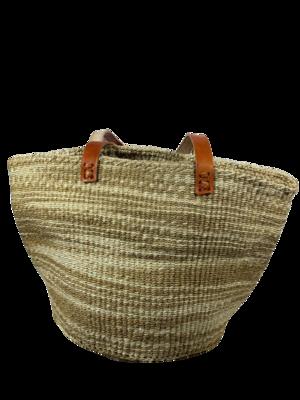 Zebra Print Beige Basket