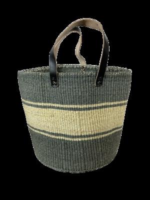 Grey With White Strips Basket