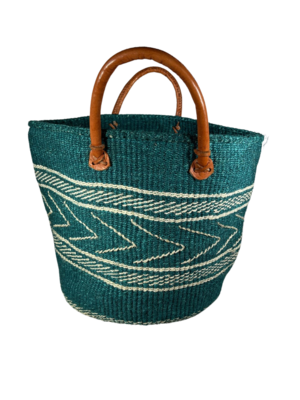 Teal And White Basket