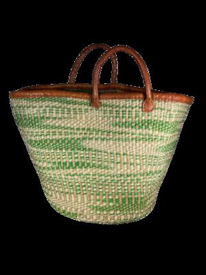 Zebra Print Green And White Basket