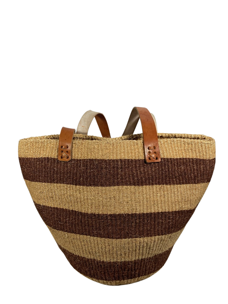 Brown And Beige Tote  Basket