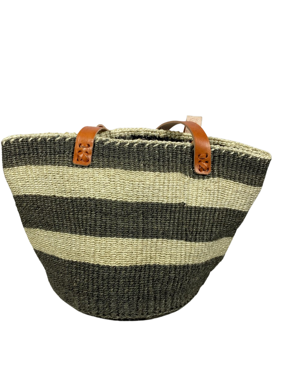 White And Grey Tote  Basket