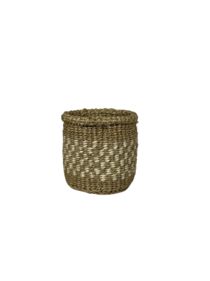 4 Inch Beige and White Cute Baskets