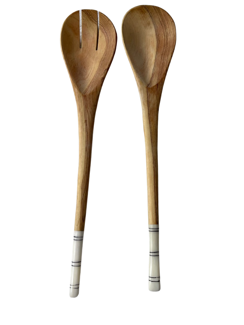 Bone At End Olivewood Spoons