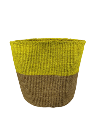 Two Tone Yellow and Gold Basket