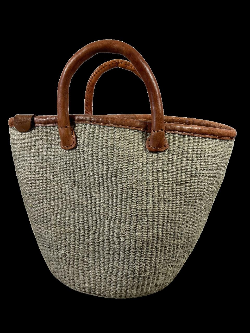Grey Clasp Tote  Basket