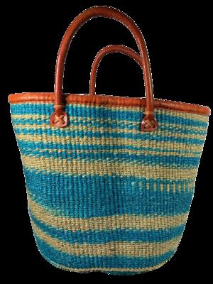 Teal and Beige Basket