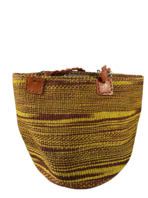 Yellow and Maroon Tote  Bag