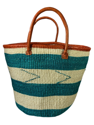 Turquoise And White Basket