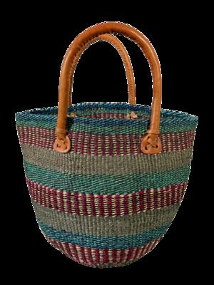 Striped Tote  Basket