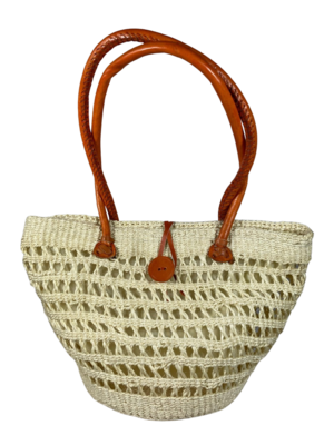 Open Weave Tote  Basket