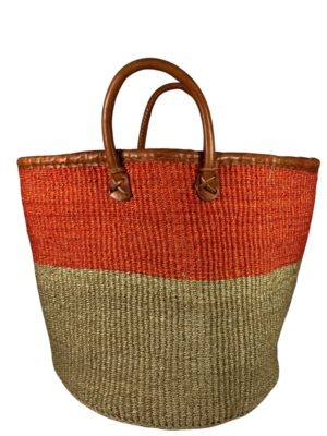Orange And Beige Basket