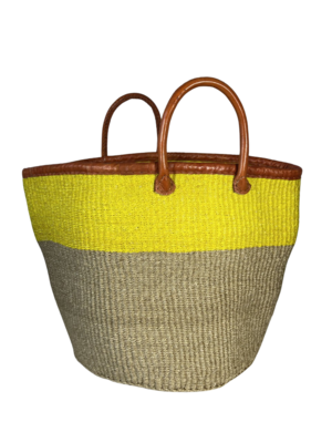 Yellow And Beige Basket