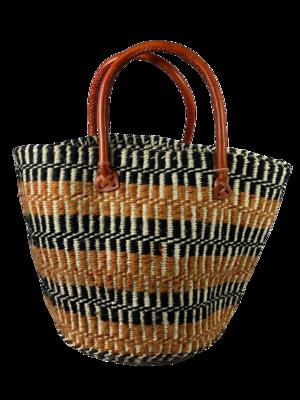 Orange, Black With White Stripe Tote  Basket
