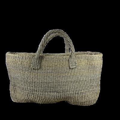 Grey Unique Basket Bag