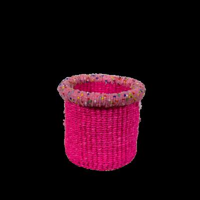 """Beaded 4"""" Tiny Basket"""