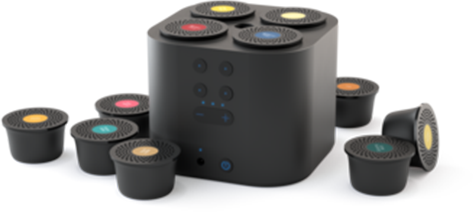 Smart Aroma Diffuser Zwart incl. capsule set