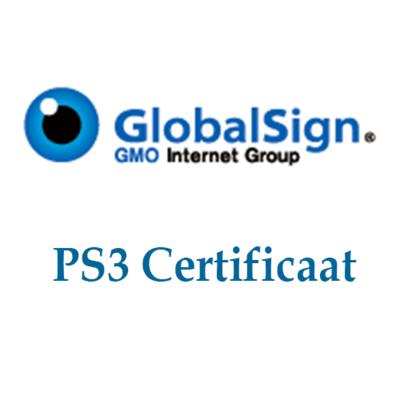 GlobalSign PS3 certificaat 3-jaar