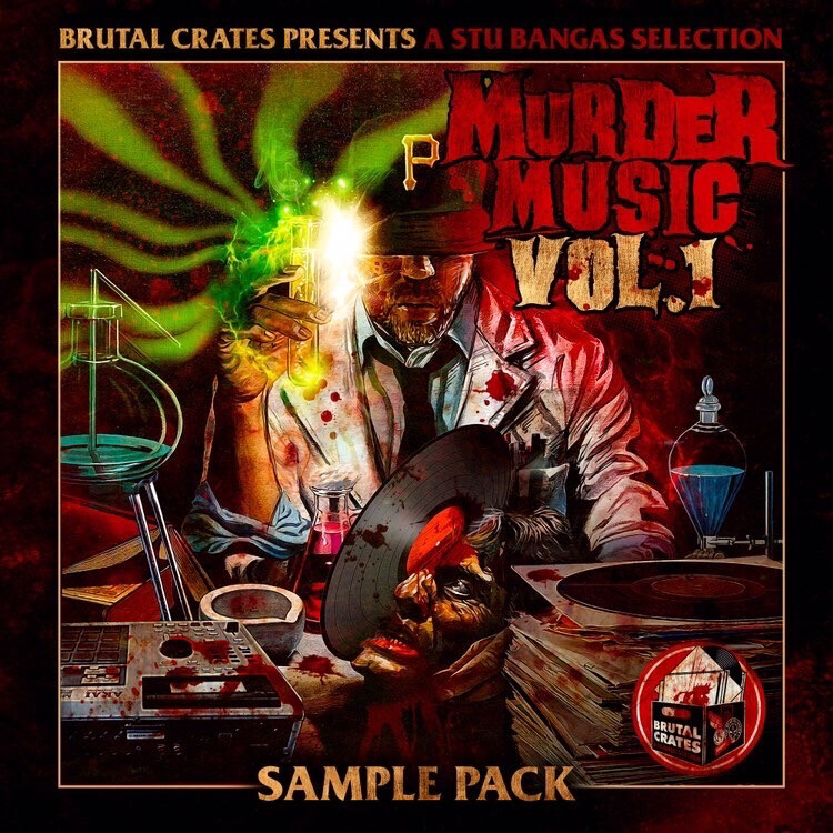 """Brutal Crates """"Murder Music"""" Volume 1 Sample Pack WITH STEMS"""