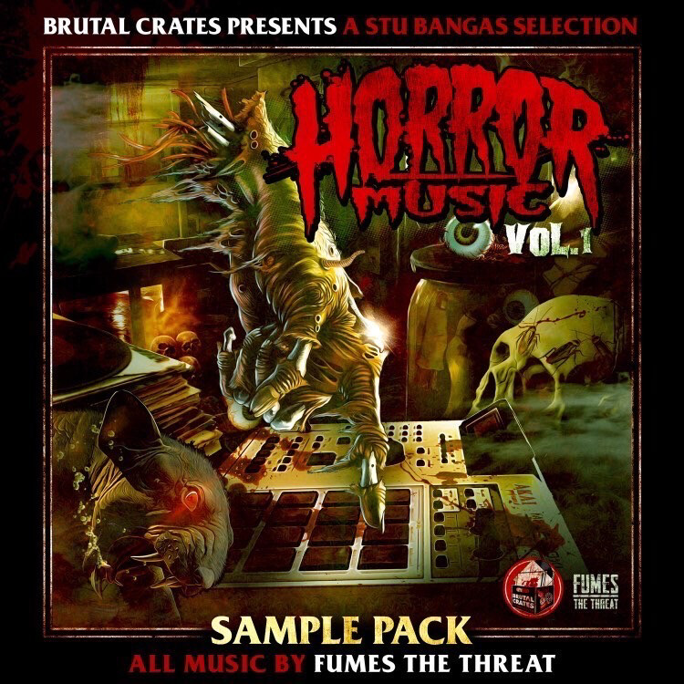 """Brutal Crates """"Horror Music"""" Volume 1 Sample Pack WITH STEMS (Pre-Order) - drops FRIDAY, MARCH 12"""