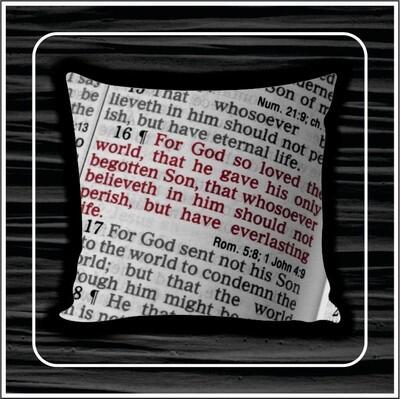 Scripture pillow
