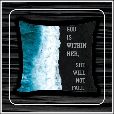 Sea wave pillow