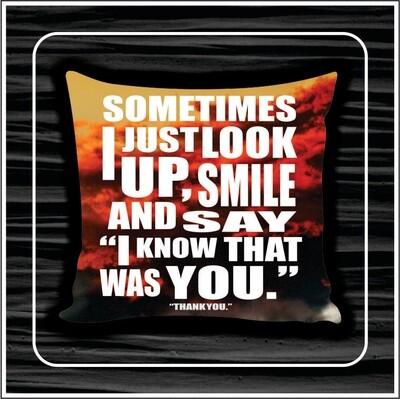 Smile cloud pillow