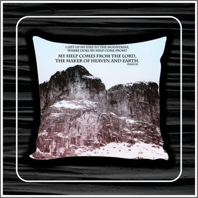 Snow mountain pillow