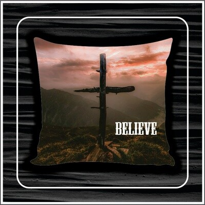 Cross mountain pillow
