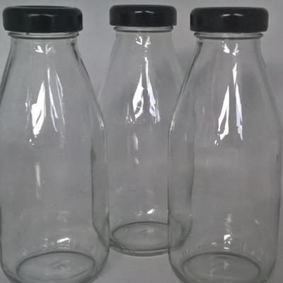 Black Lids ONLY 38mm for the 330ml Milk Bottles