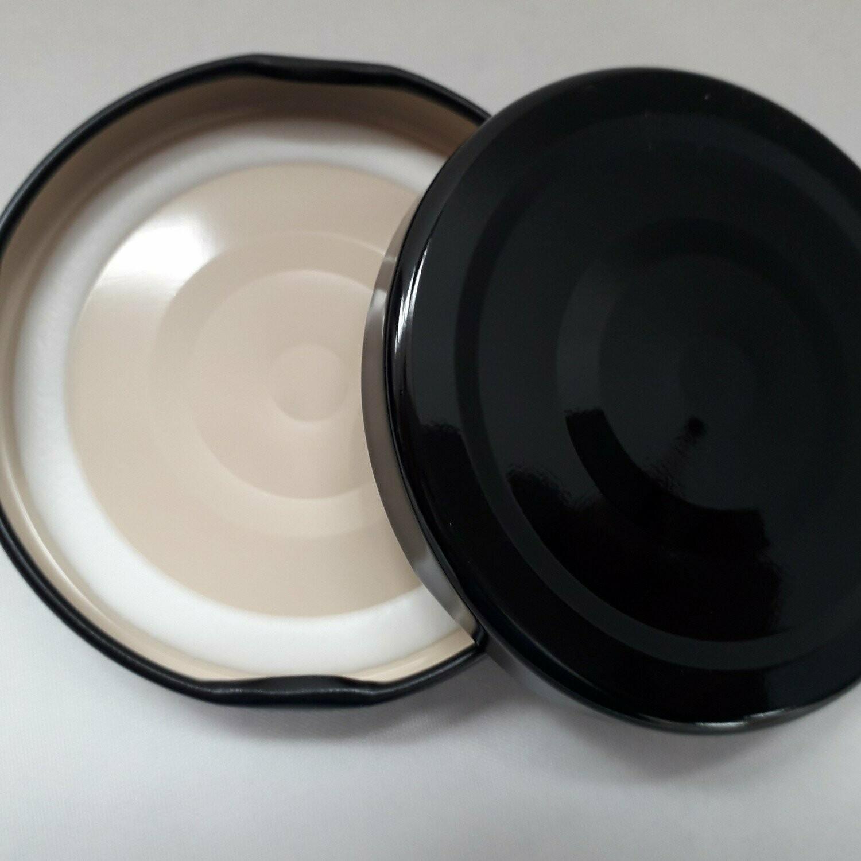 48mm Black Button Lids