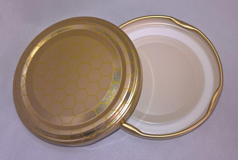 63mm Gold Honeycomb Lids