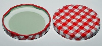 Red Gingham Lids