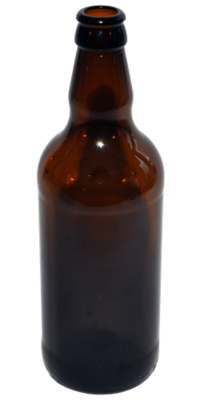500ml Amber Beer Bottles with Gold Crown Caps