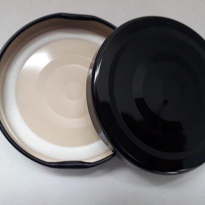 Black Button Lids (43mm & 48mm)
