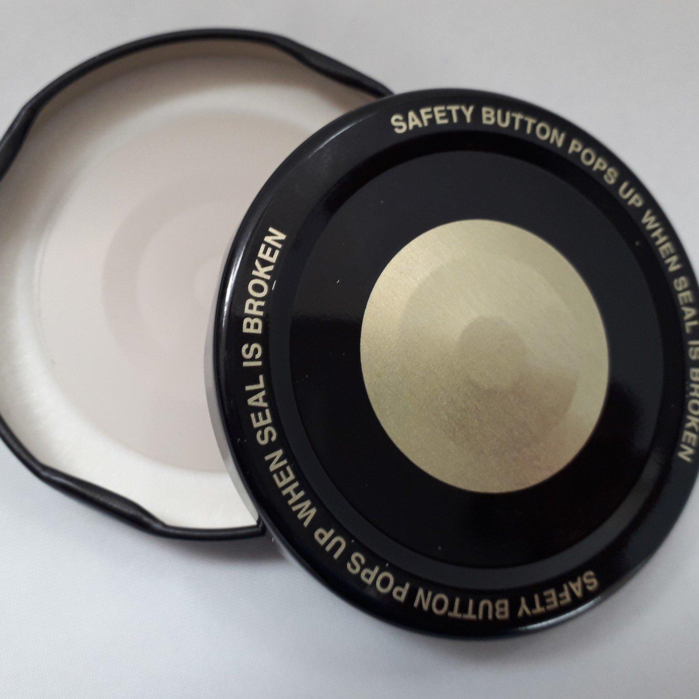 63mm Black & Gold Button Lids