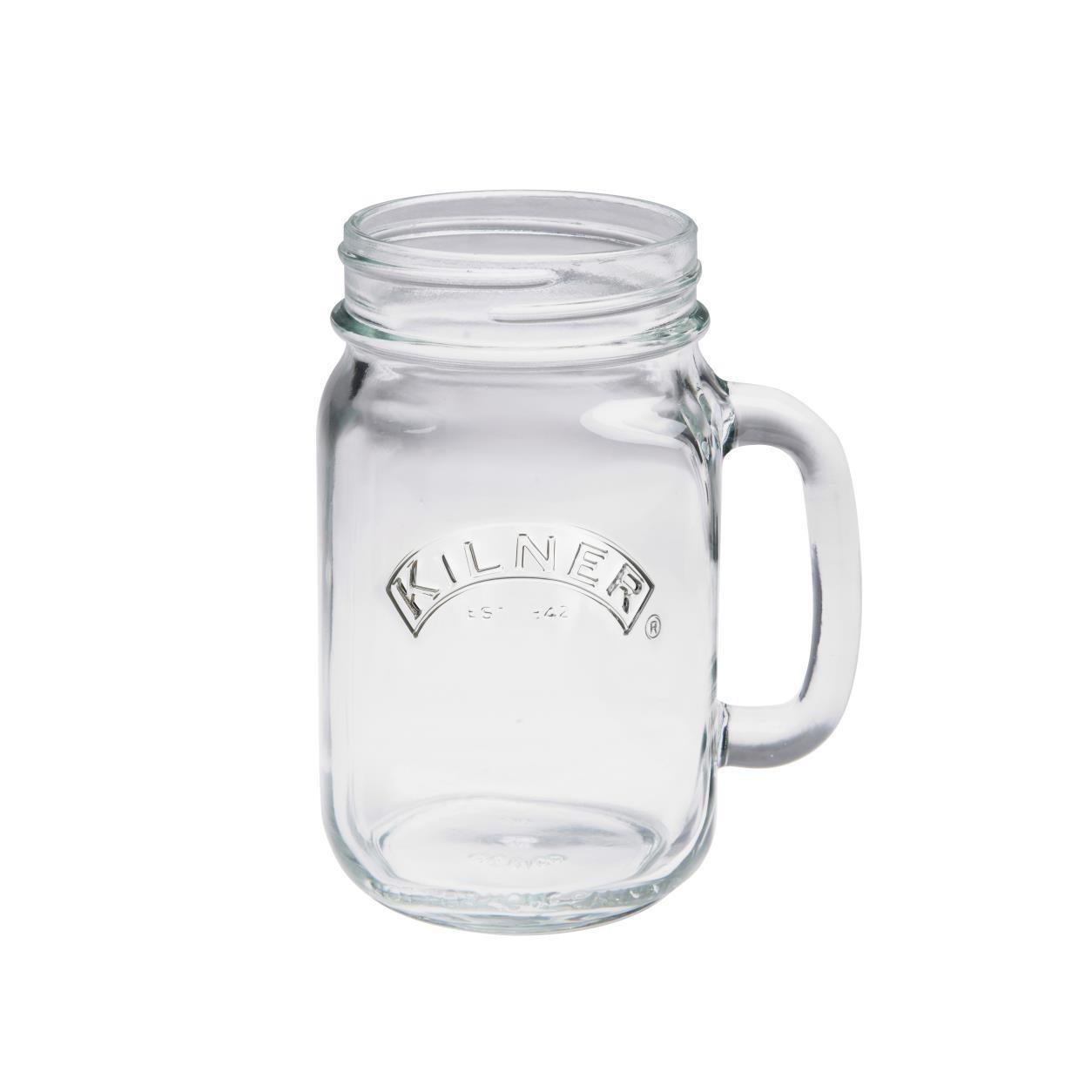 0.5ltr Kilner Clear Handled Drinking Jar