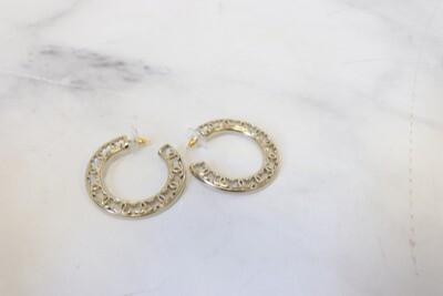 Chanel Earrings Hoops, New in Box