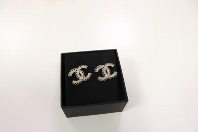 Chanel Earrings CC Chain Statement, New in Box WA001