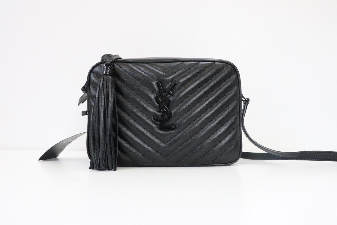 Saint Laurent Lou Lou Camera Bag, So Black, Preowned in Dustbag