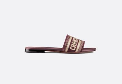 Dior D Way Slides, Deep Amaran, New in Box