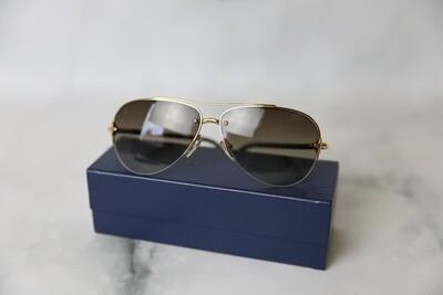 Louis Vuitton Aviator Sunglasses, Tan, Preowned in Box WA001