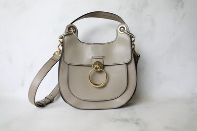 Chloe Tess Hobo, Taupe with Gold Hardware, Preowned in Dustbag WA001